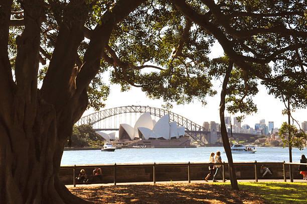 Sydney Opera House, Harbour Bridge & City stock photo