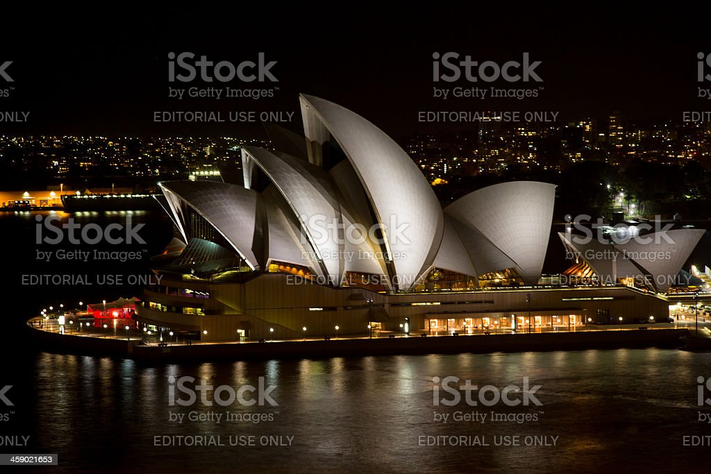 Sydney Opera House Illuminated at Night, Australia royalty-free stock photo