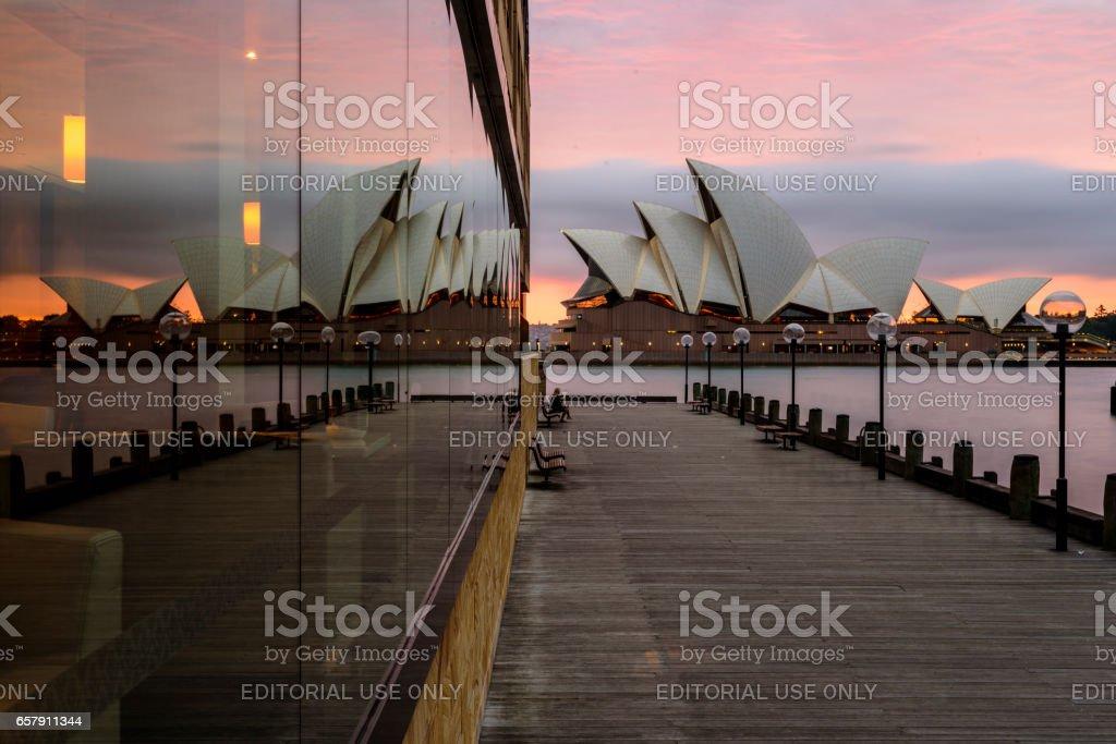 Sydney Opera House reflection stock photo