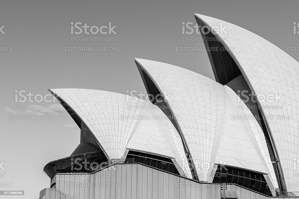 Sydney Opera House sails stock photo