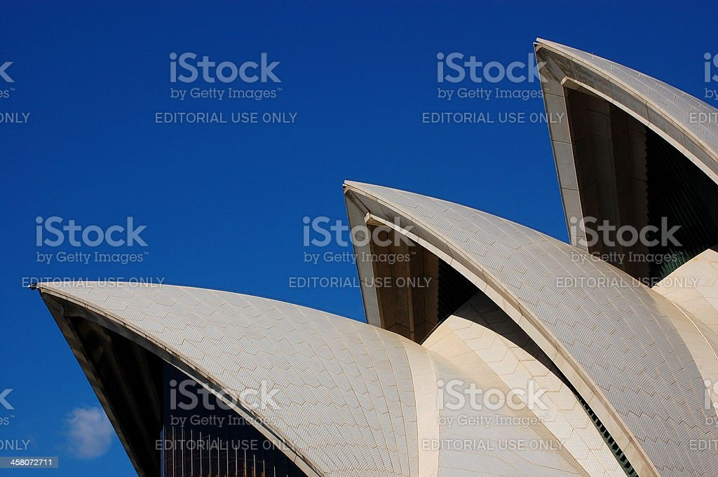 Sydney Opera House Sails Set Against Blue Sky royalty-free stock photo