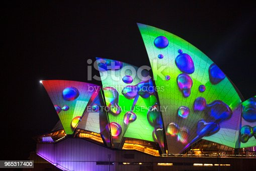 Sydney Opera House Sails With Vivid Imagery From 2018 Stock Photo & More Pictures of Annual
