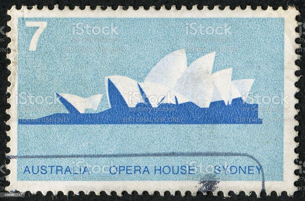 Sydney Opera House Stamp royalty-free stock photo