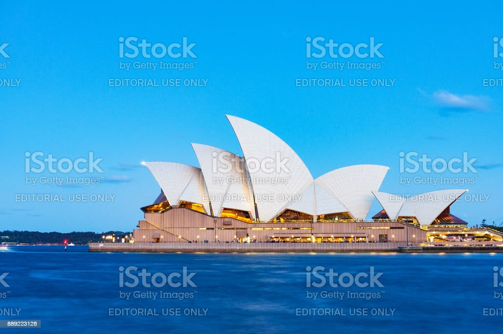 Sydney Opera House with blue sky on the background stock photo