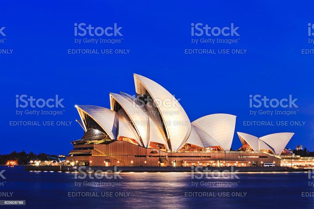 Sydney Opera side blue set stock photo