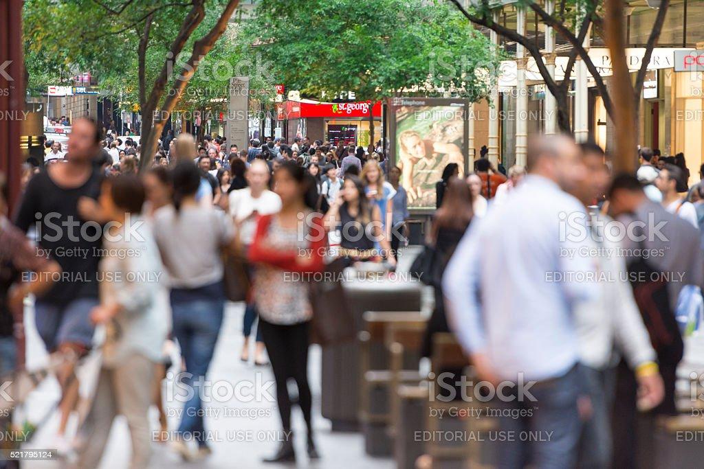 Sydney Pitt Street stock photo