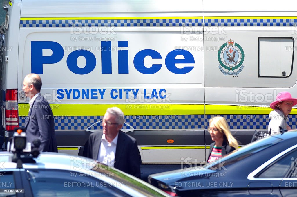 Sydney Police vehicle in Sydney New South Wales Australia stock photo