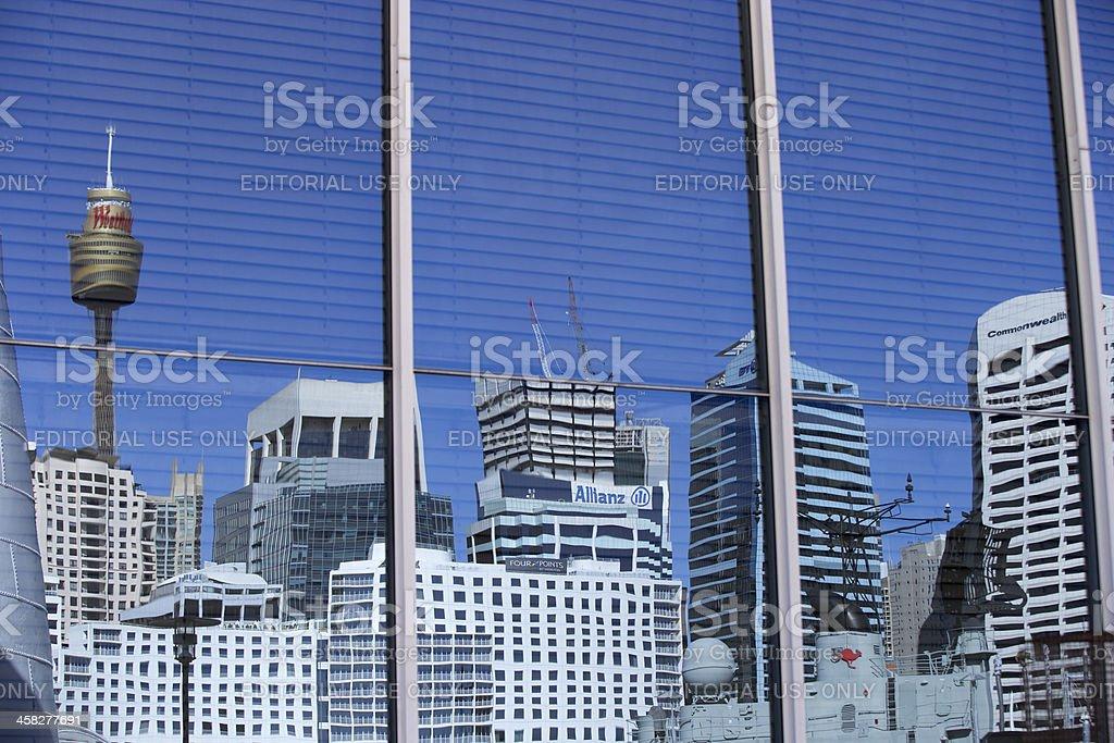 Sydney reflected royalty-free stock photo