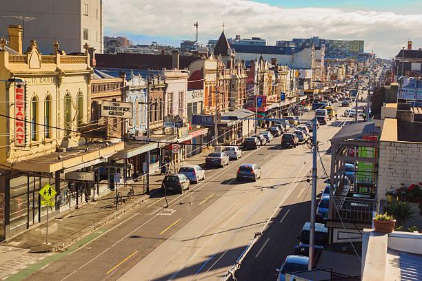 Sydney Road, Brunswick stock photo