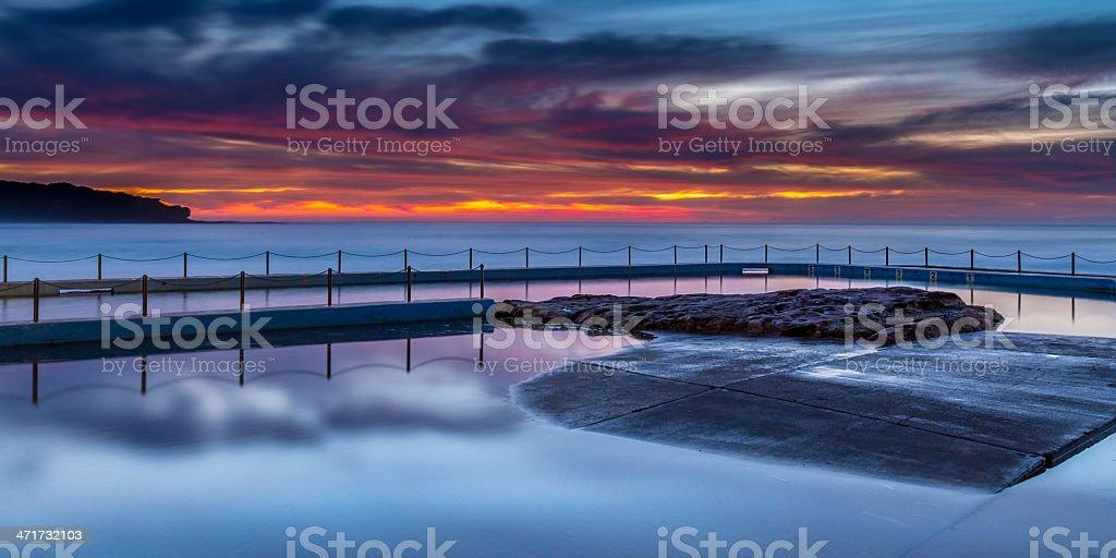 Sydney rock pool royalty-free stock photo