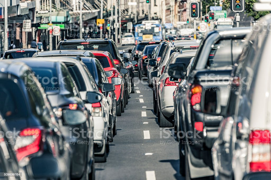 Sydney rush hour main road traffic gridlock stock photo