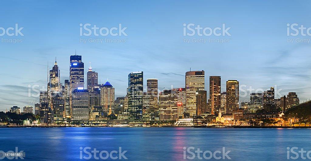 Sydney skyline after sunset royalty-free stock photo