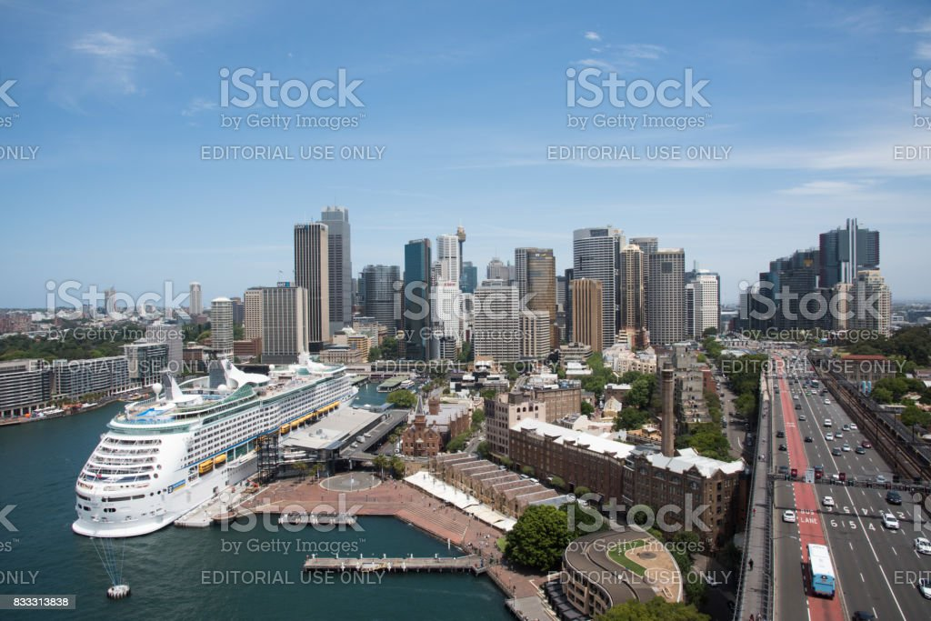 Sydney Skyline and Circular Quay stock photo