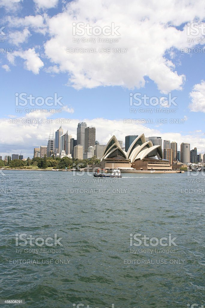 Sydney Skyline And Opera House. royalty-free stock photo