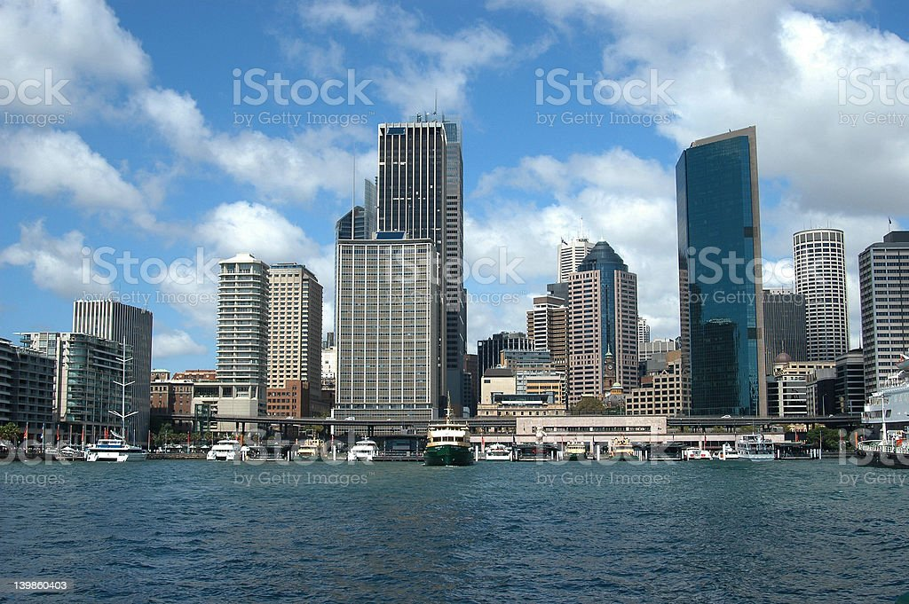 Sydney Skyline at Circular Quay royalty-free stock photo
