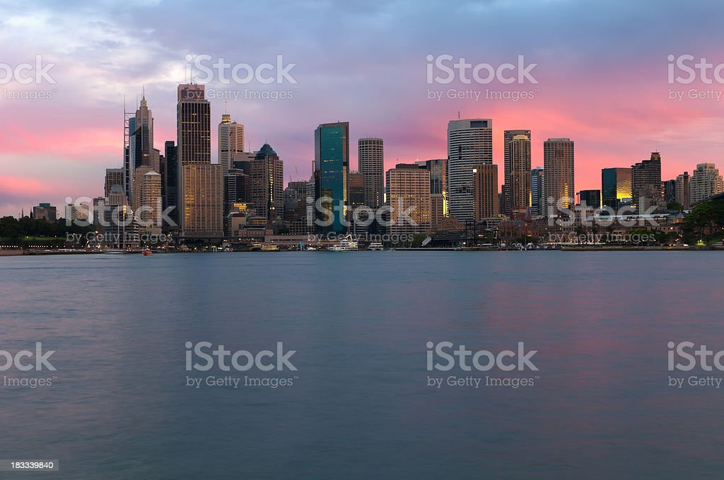 Sydney Skyline at Sunset royalty-free stock photo