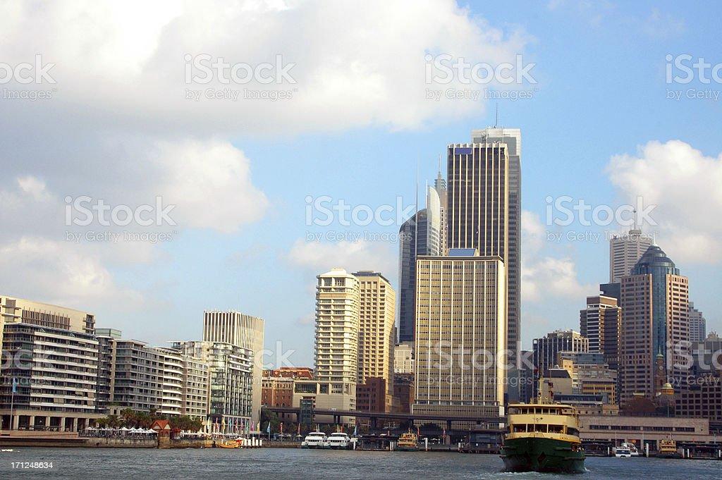 Sydney skyline - Circular Quay royalty-free stock photo