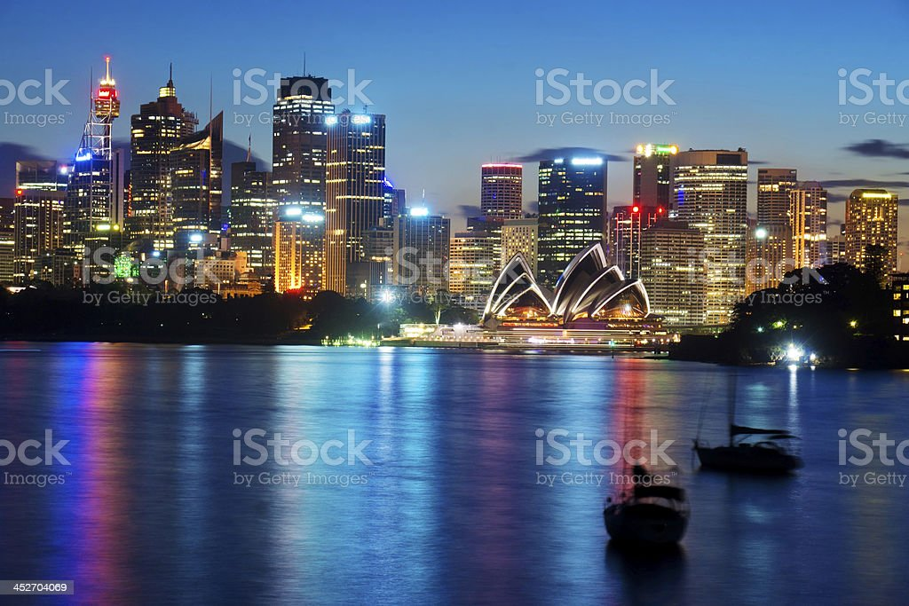 Sydney Skyline - Cremorne Point (Twilight) stock photo