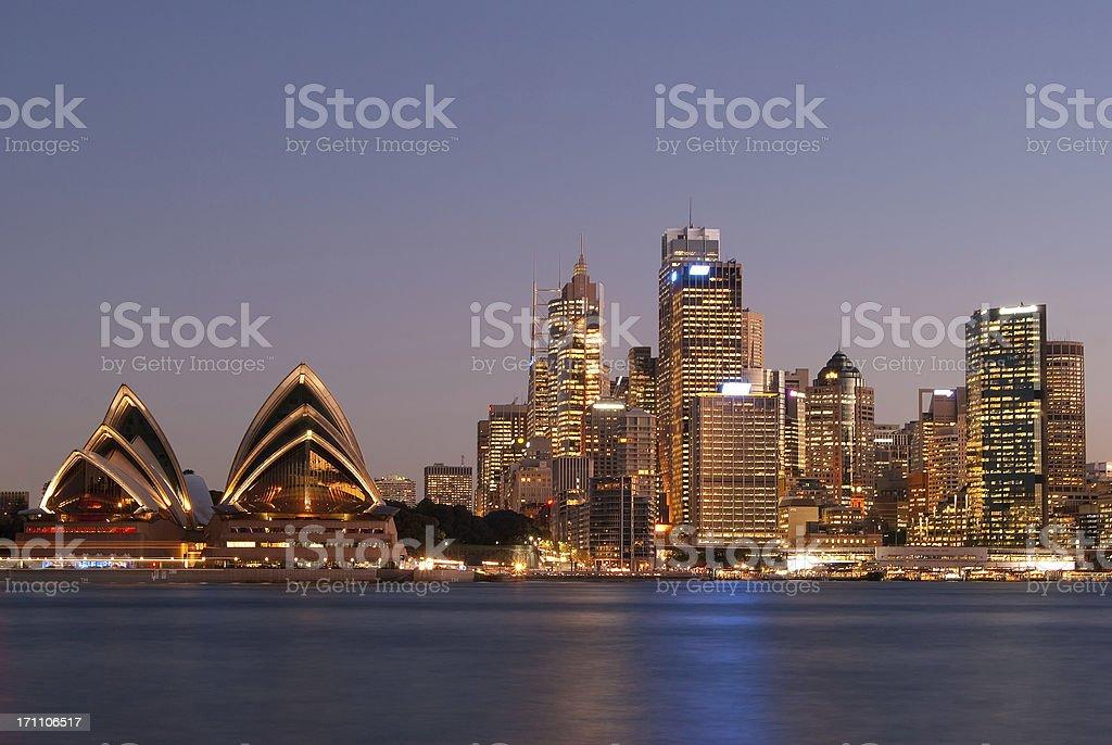 Sydney Skyline - Kirribilli (Purple #1) royalty-free stock photo