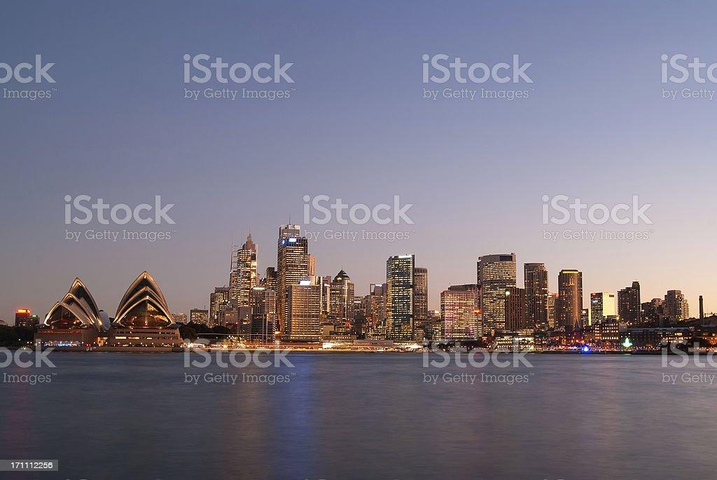 Sydney Skyline - Kirribilli (Purple #3) royalty-free stock photo