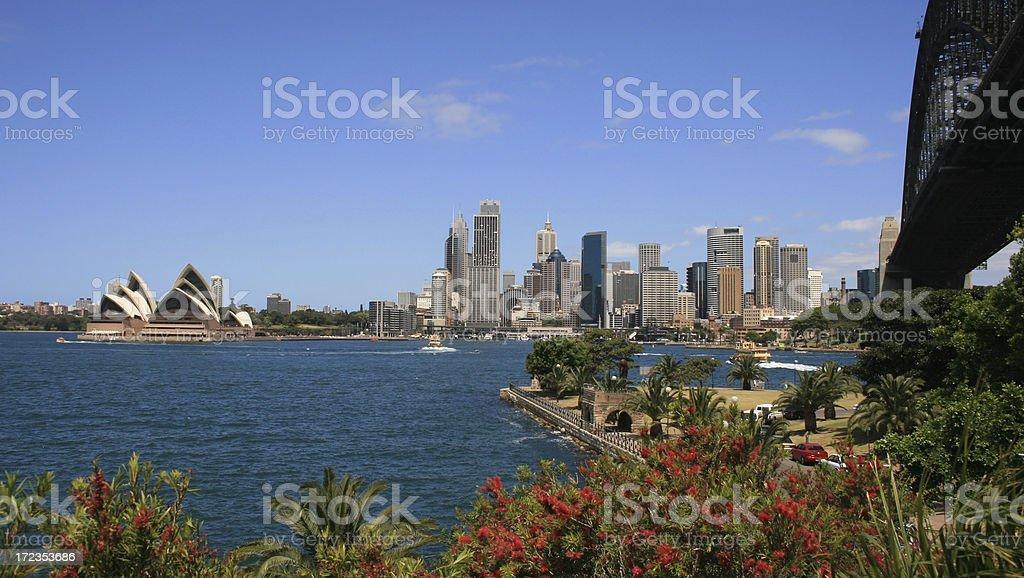 Panorama de la ciudad de Sydney foto de stock libre de derechos