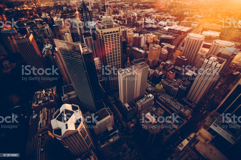 Sydney skyscrapers stock photo