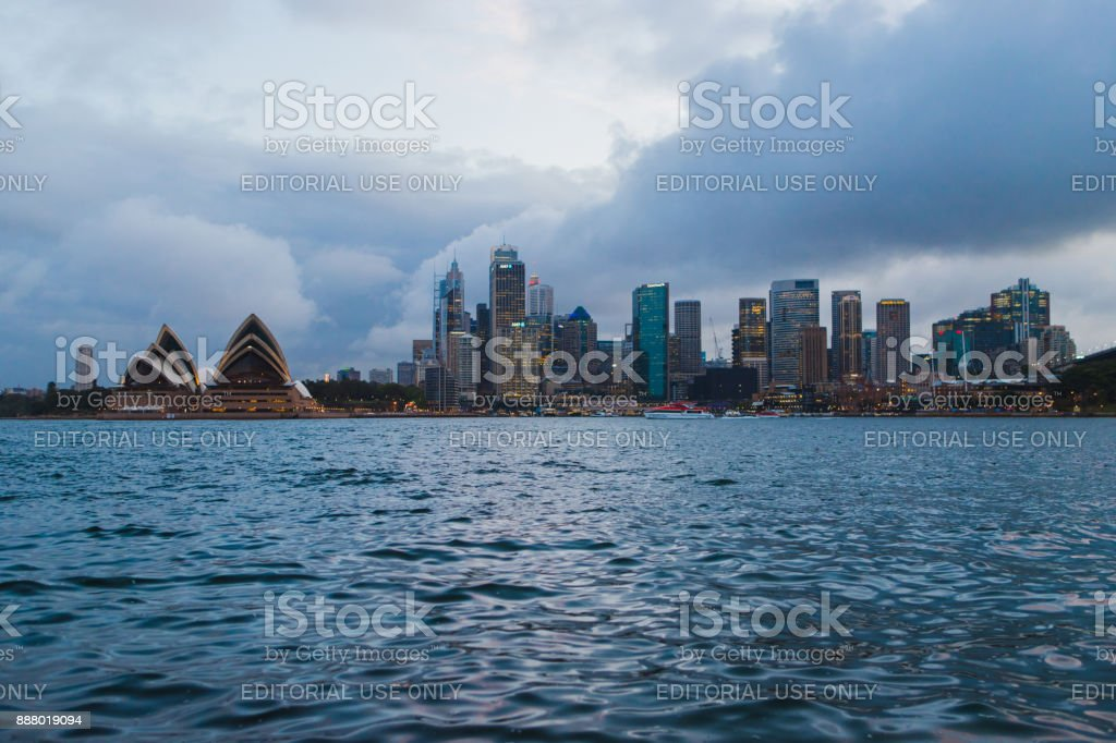 Sydney Storm stock photo