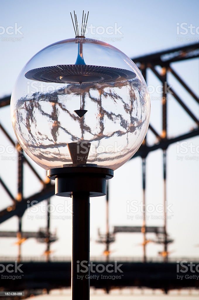 Sydney Street Lamp Abstract royalty-free stock photo