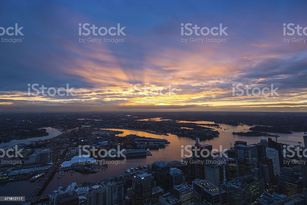 Sydney sunset, Australia royalty-free stock photo