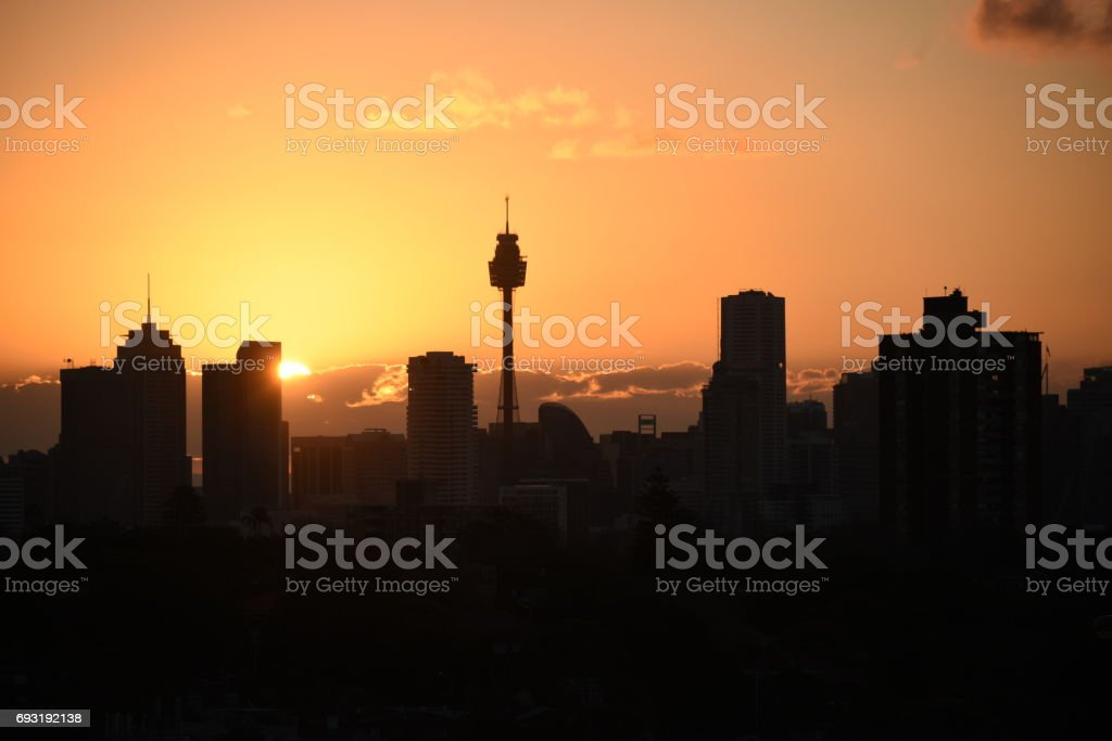 Sydney sunset stock photo