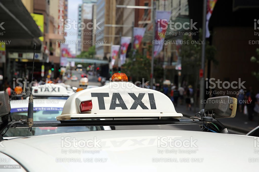 Sydney Taxi royalty-free stock photo