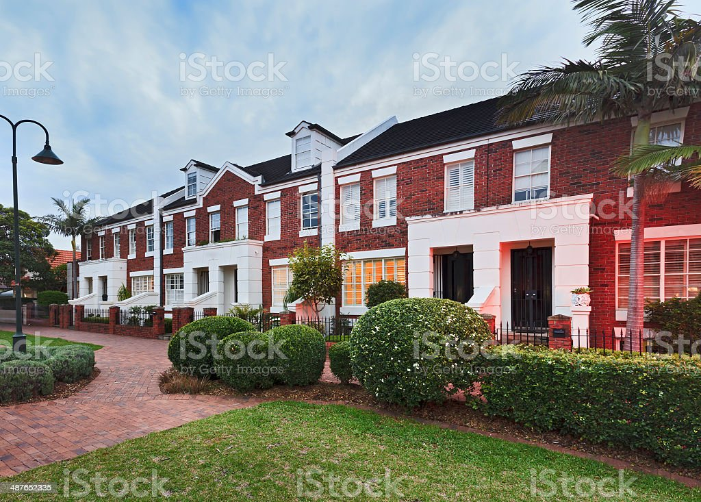 Sydney Terrace House Side stock photo
