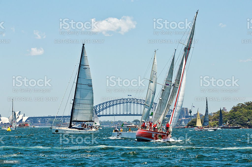 Sydney to Hobart yacht race stock photo