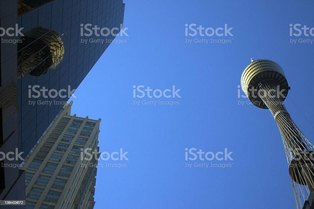 Sydney Tower Reflection royalty-free stock photo