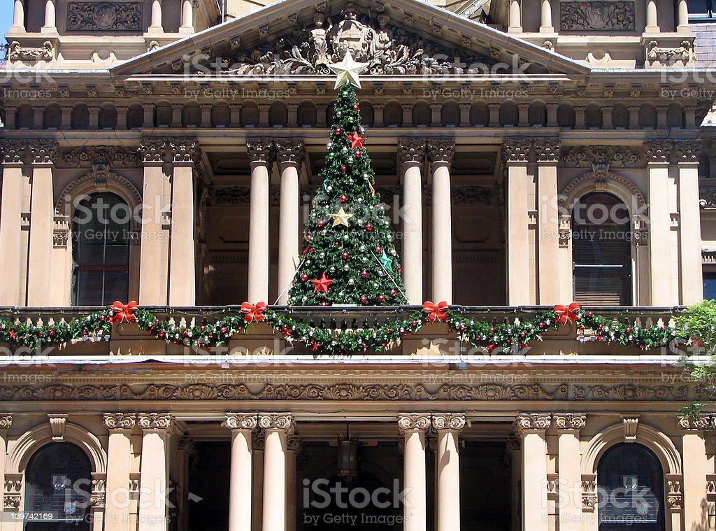 Sydney Townhall, Christmas royalty-free stock photo