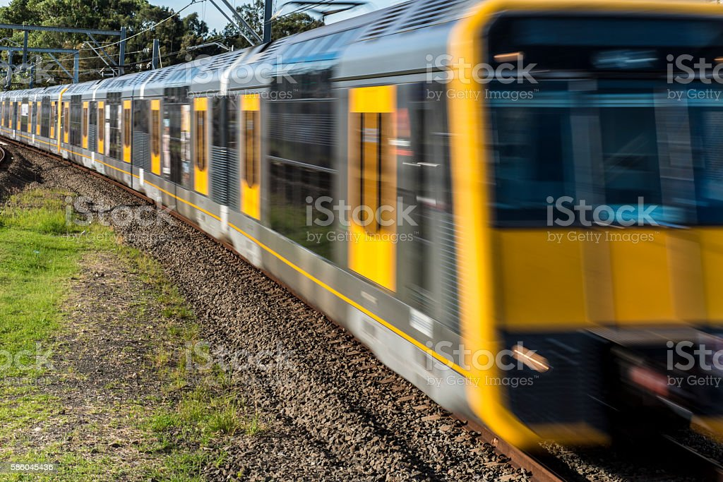 Sydney Train Australia Speed Motion Blur​​​ foto