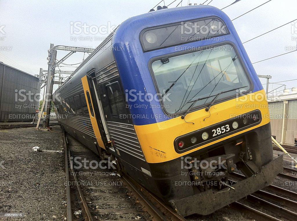 Sydney train crash royalty-free stock photo