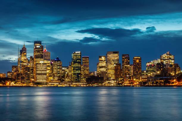 Sydney Urban Skyline at Night Australia stock photo
