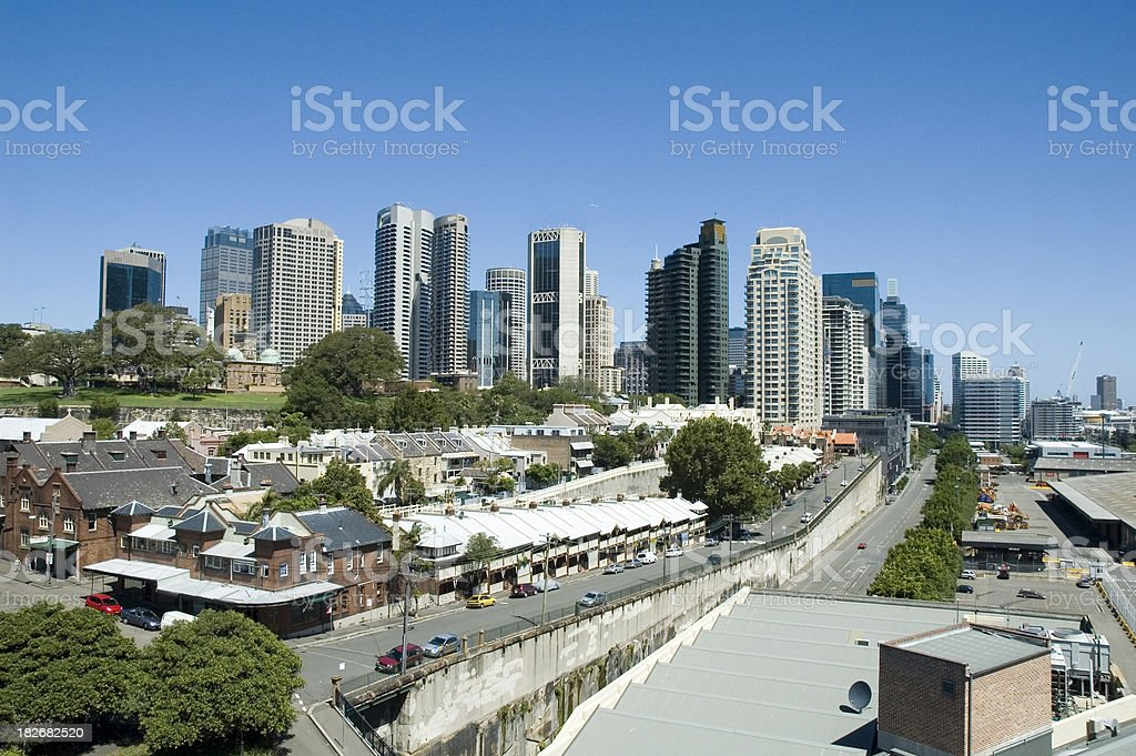 Sydney viewed from The Rocks royalty-free stock photo