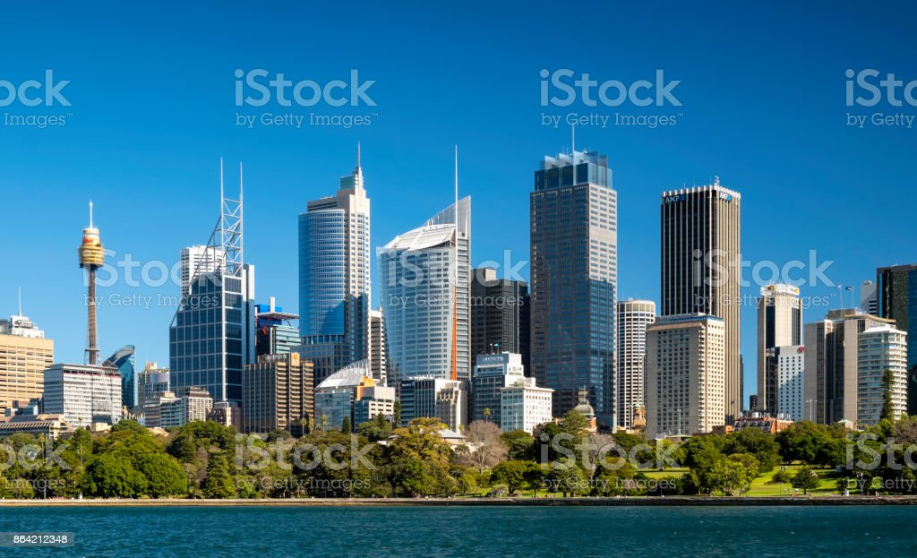 Sydney's Business District royalty-free stock photo