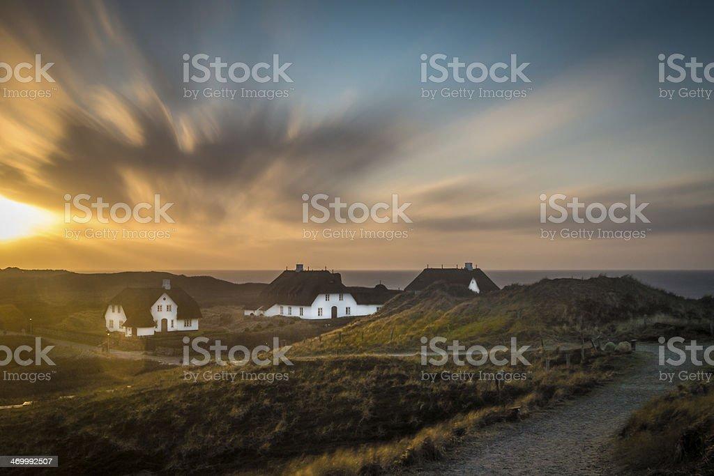 Sylt sunset stock photo