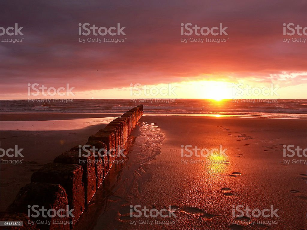 Sylter Sonnenuntergang royalty-free stock photo
