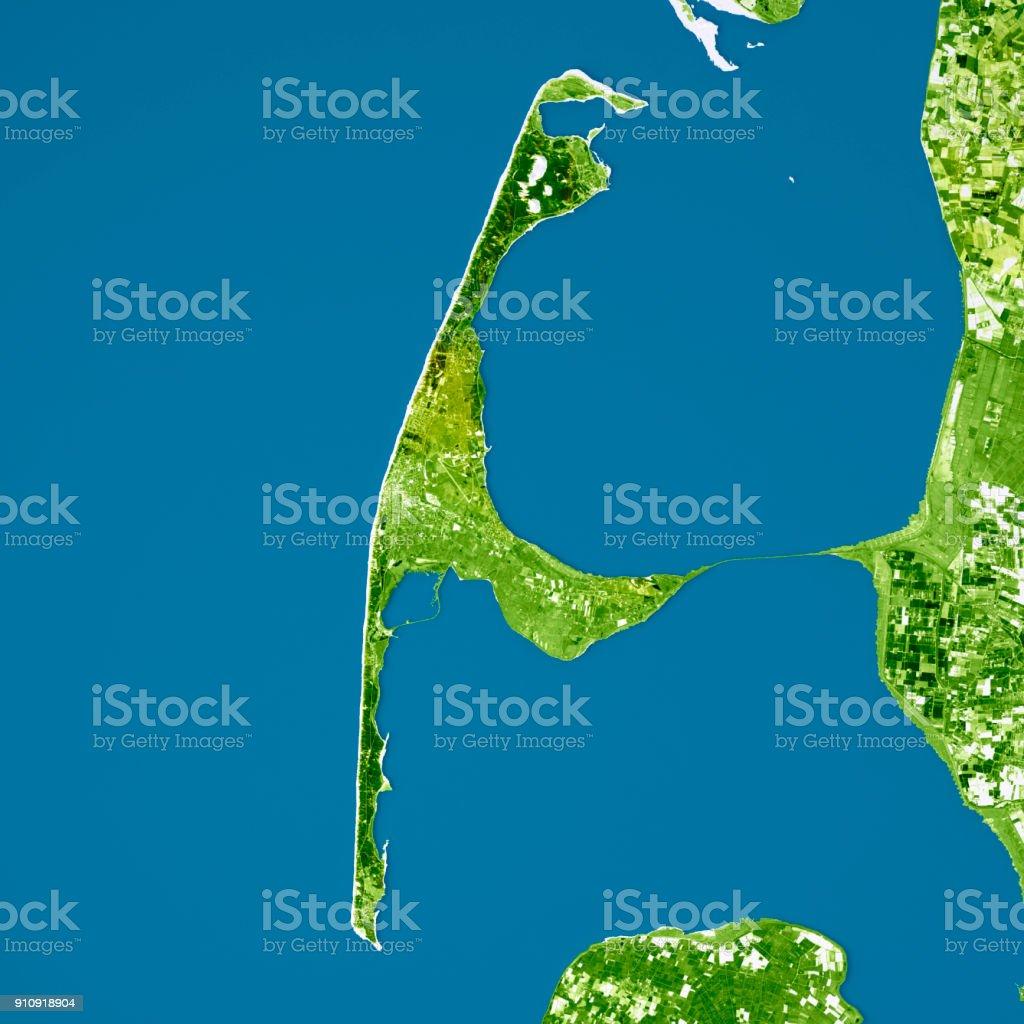 Karte Von Sylt.Topographische Karte Sylt Verbessert Farbe Draufsicht Stockfoto Und