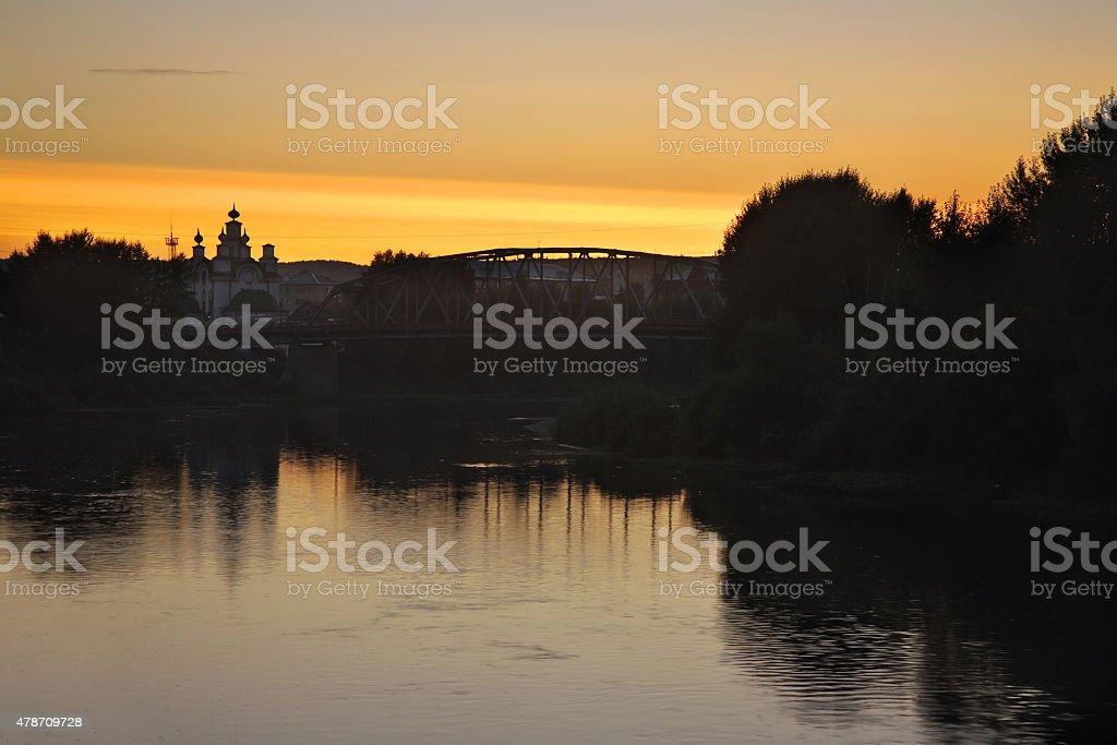 Sylva river in Kungur. Perm Krai. Russia stock photo