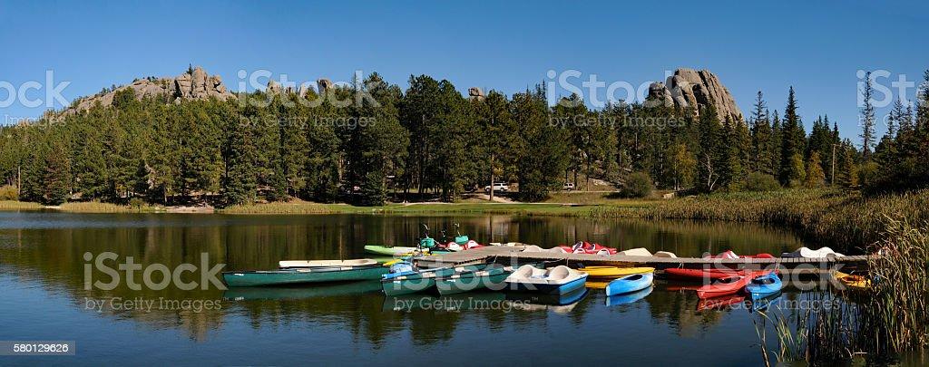 Sylvan Lake Panorama stock photo