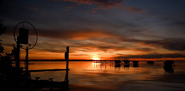 Sylvan Lake Sunset stock photo