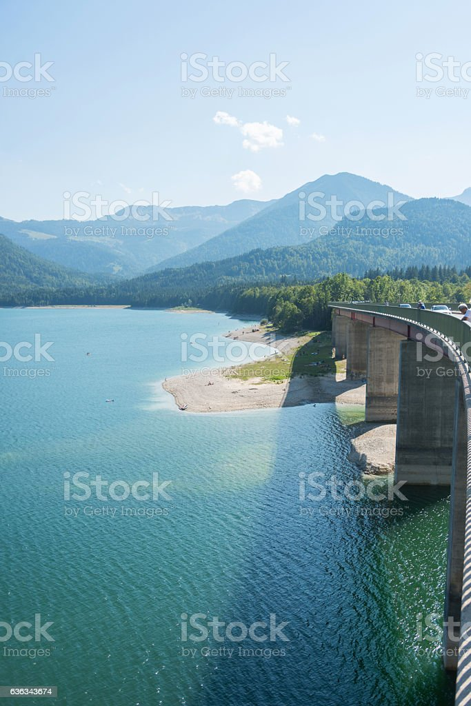 Sylvenstein lake stock photo