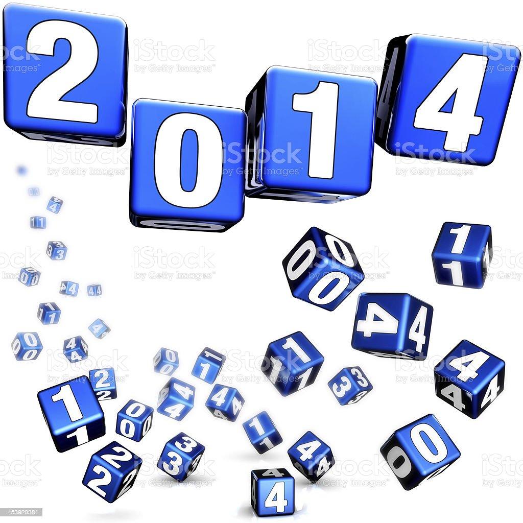 sylvester 2014 royalty-free stock photo