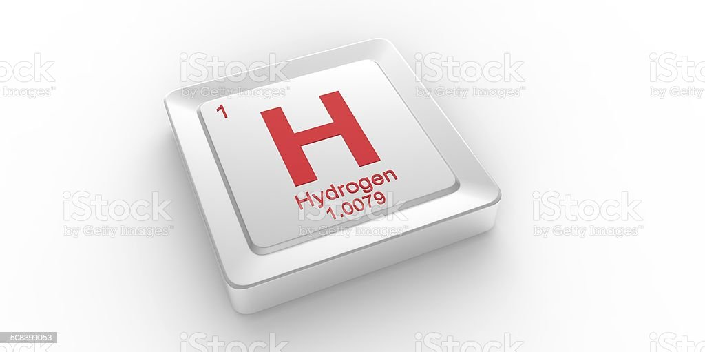 H Symbol 1 Material For Hydrogen Chemical Element Stock Photo More