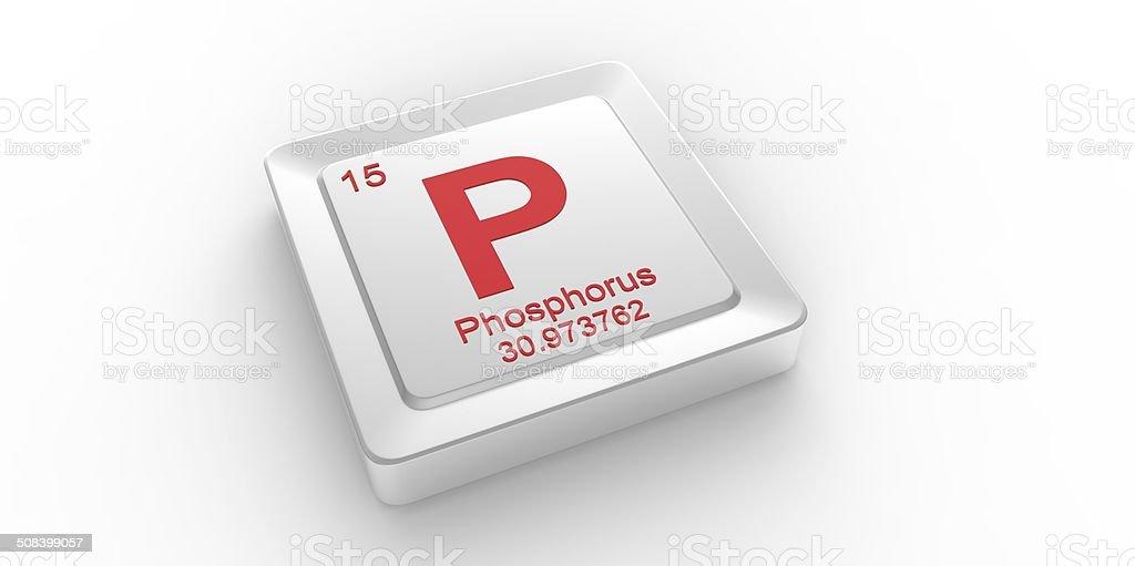 P Symbol 15 Material For Phosphorus Chemical Element Stock Photo